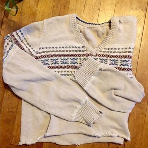 Distressed Sweater Cropped